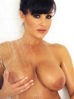 Busty Lisa showering