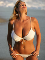 Kelly Madison at the beach