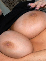 Milf tits on the bed