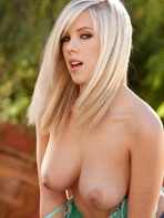 Bibi Jones stripping outdoors