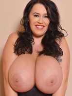 Pics of Leanne Crow showing off her huge tits