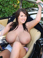Topless in the car