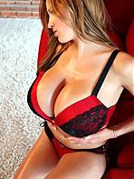 Jorden Carver red bikini