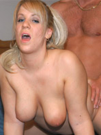 Busty blonde babe getting fucked