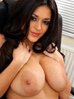 Sexy latin secretary in the office