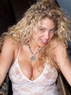 Emily R. Thorne in white lingerie