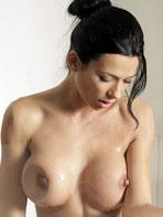 Nice natural tits with long nipples