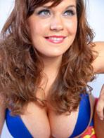 Hannah Sharp wears a bra