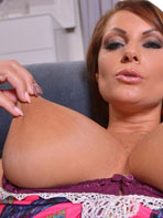 Sheila Grant getting naked on the couch