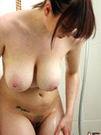 Louisa May showering