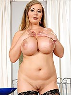 Busty Constance strips