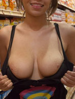 Cassidy Ellis in the supermarket