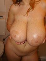 Huge saggy mammaries