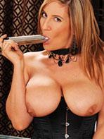 Jenny Badeau with dildo