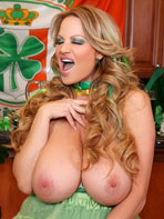 Kelly Madison in green