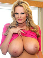 Kelly Madison in a tight dress