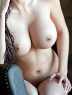 Talia Shepard with a dildo