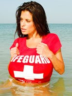 Wendy Fiore as a lifeguard