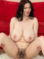 Big breasted and bushy Vanessa