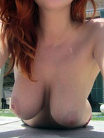 Big breasted redhead Lucy