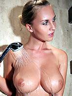 Blonde Cikita showering