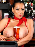 Busty barmaid Danica