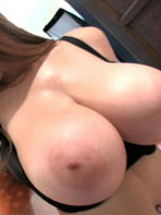 Tessa Fowler playing with her big boobs