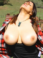 Pics of Monica Mendez posing outdoors
