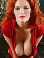 Sexy redhead Danielle Riley