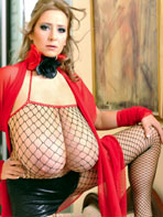 Abbi Secraa wearing fishnet