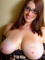 Busty girl with glasses