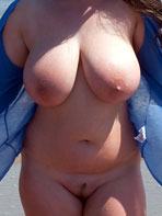 Gina G nude on the beach