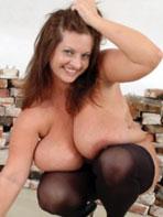 Maria Moore in stockings