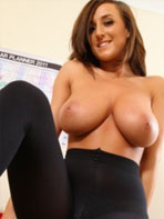 Stacey P in black lingerie