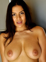 Lacey Banghard naked in the kitchen