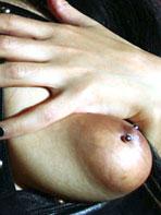 Hispanic girl with puffy nipples
